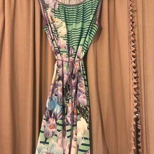 Dream Daily Anthro Purple Floral Yonina Mini Dress